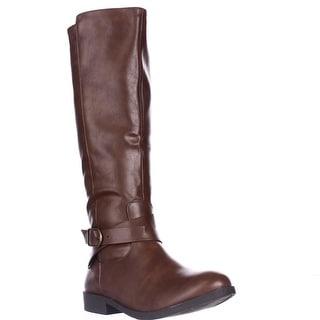 SC35 Madixe Knee-High Riding Boots, Cognac