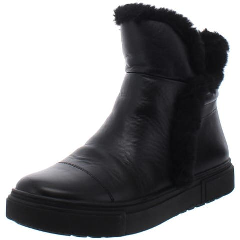 Naturalizer Womens Barkley Sneaker Boots Faux Fur Lined Cold Weather