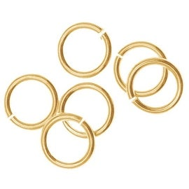 14K Gold Filled Open Jump Rings 6mm 20 Gauge (10)