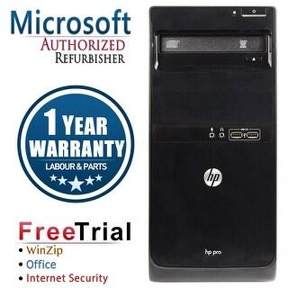Refurbished HP Pro 3400 Tower Intel Core I3 2100 3.1G 4G DDR3 2TB DVD WIN 10 Pro 64 1 Year Warranty - Black