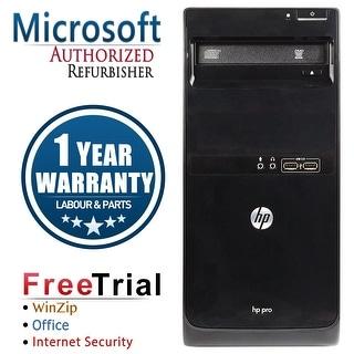 Refurbished HP Pro 3500 Tower Intel Core I5 3470 3.2G 8G DDR3 1TB DVD WIN 10 Pro 64 1 Year Warranty - Black