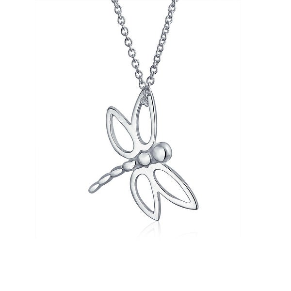 Shop Butterfly Dragonfly Small Pendant Charm High Polish 925 Sterling Silver  Necklace For Women For Girls Chain 16 Inches - On Sale - Free Shipping On  ... ef974452e