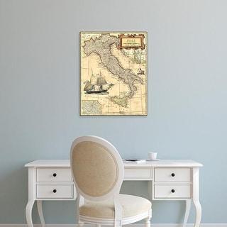 Easy Art Prints Vision Studio's 'Italy Map' Premium Canvas Art