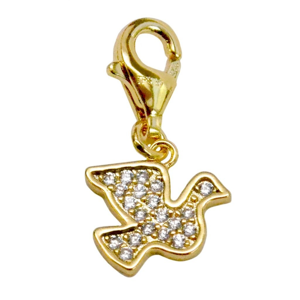 Julieta Jewelry Dove Gold Sterling Silver Charm - Thumbnail 0