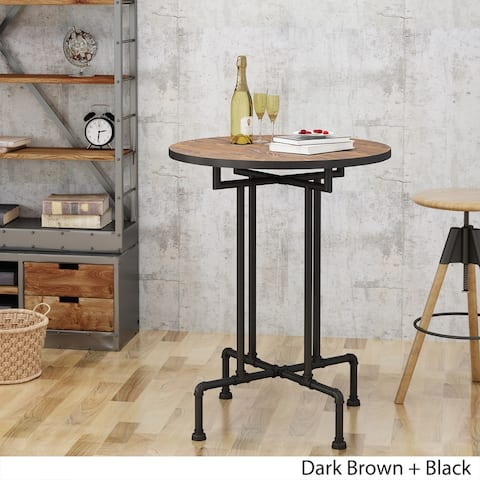 Westleigh Industrial Faux Wood Bar Table by Christopher Knight Home
