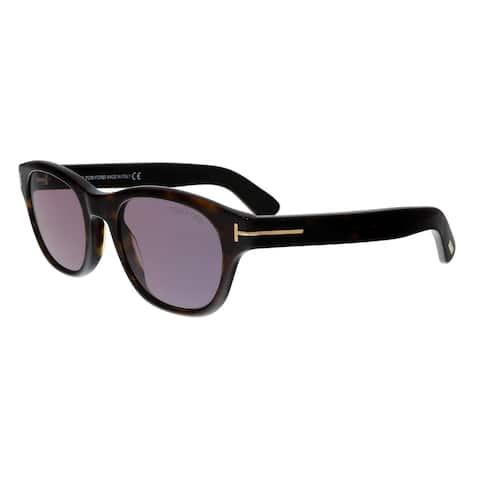 1ff9b0aa49ad3 Tom Ford FT0530 52Y O keefe Dark Havana Rectangular Sunglasses - No Size