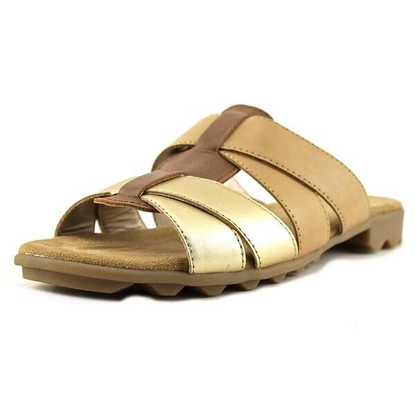 Aerosoles Devine Women Dk Tan Combo Sandals