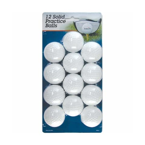 Intech Golf Hollow, Dimpled Practice Balls (12-Pack, White)