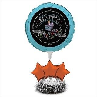 Chalk Birthday Air Filled Balloon Centerpiece Kit - Case of 4