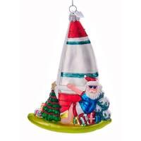 Kurt Adler Noble Gems Sailing Santa  Holiday Ornament Glass