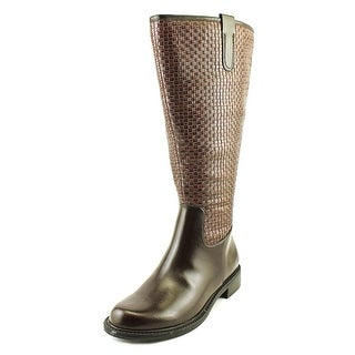 David Tate Quest Wide Calf   Round Toe Synthetic  Knee High Boot