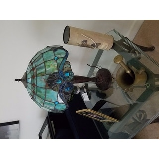 Tiffany Style Pearl Vintage Table Lamp