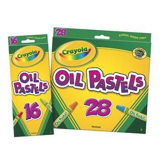 Crayola Hexagonal Non-Toxic Jumbo Oil Pastel Stick Set, 7/16 X 3 in, Assorted Color, Set of 28