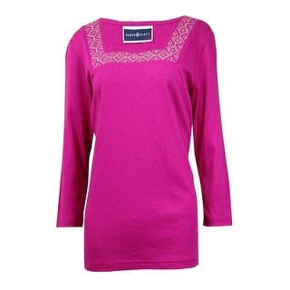 Karen Scott Women's Embroidered Studded Square Neck Top|https://ak1.ostkcdn.com/images/products/is/images/direct/c043102dcb6a8eae9fb072c1d1217afa8e51ac53/Karen-Scott-Women%27s-Embroidered-Studded-Square-Neck-Top.jpg?impolicy=medium