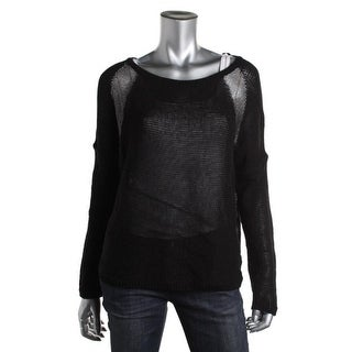 DKNY Jeans Womens Pullover Sweater Metallic Colorblock