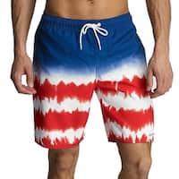 Hurley Blue Mens Large L Drawstring Colorblock Board Surf Shorts