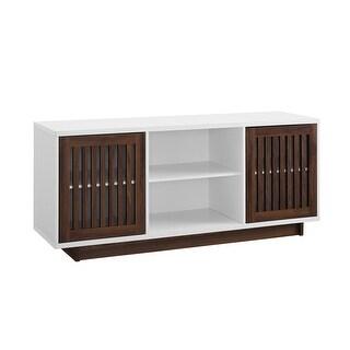 "Delacora WE-BD56VSD  56"" Wide Laminate and Wood Media Cabinet"