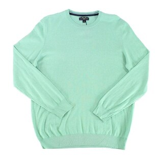 Club Room NEW Green Heathered Mens Size Large L Crewneck Silk Sweater