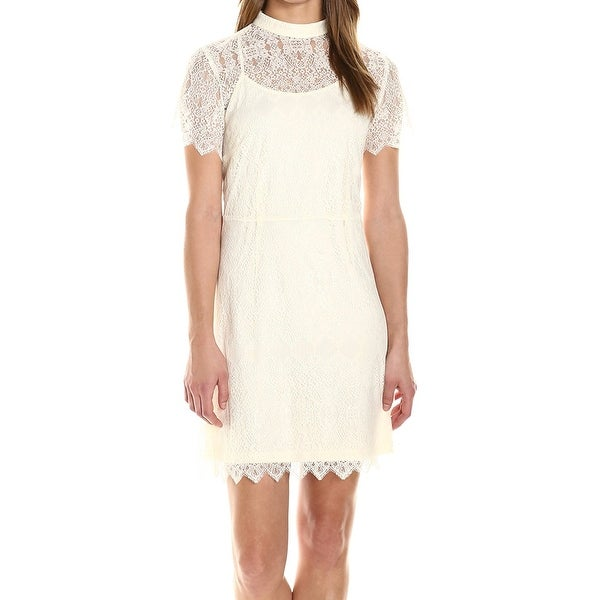 939bc00a84 Shop Kensie White Ivory Womens Size Small S Floral-Lace Sheath Dress - Free  Shipping On Orders Over  45 - Overstock - 21478864