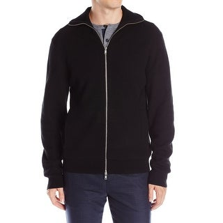 Theory NEW Black Mens Size Small S Cashwool Full Zip Knit Jacket