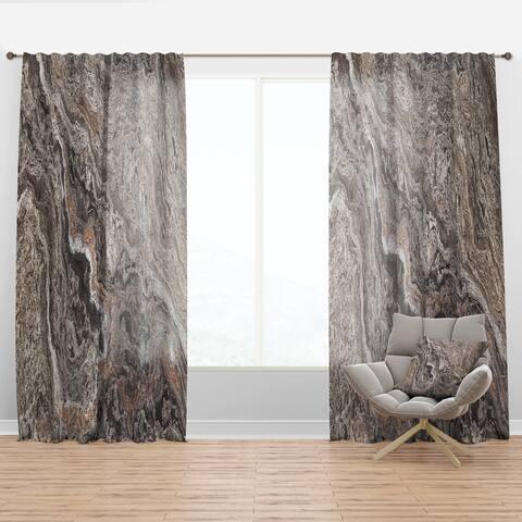 Designart 'Onyx Travertine Tile' Mid-CenturyCurtain Panel