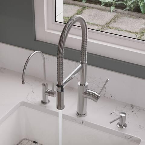 ALFI AB2015 Brushed Single-hole Gooseneck Faucet