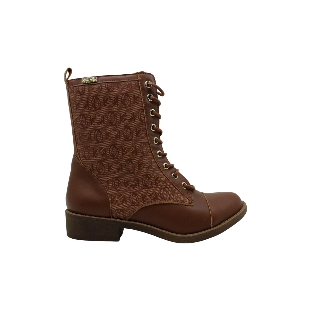 Bebe Womens Olsen Leather Closed Toe Mid-Calf Fashion Boots
