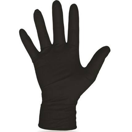 Boss 1UH0006BX Disposable Nitrile Gloves, Black, X-Large