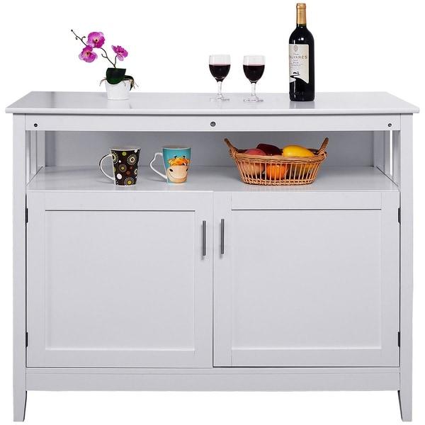 shop costway modern kitchen storage cabinet buffet server