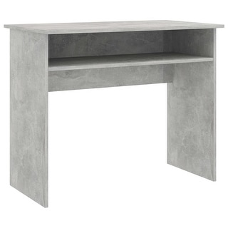 "Link to vidaXL Desk Concrete Gray 35.4""x19.6""x29.1""Chipboard Similar Items in Desks & Computer Tables"