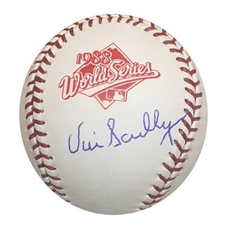 Vin Scully Autographed Dodgers 1988 World Series Signed Baseball PSA DNA COA 2