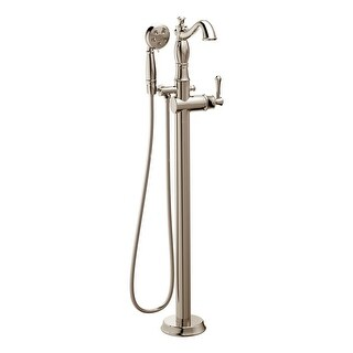 Delta T4797-FL-LHP Cassidy Floor Mounted Tub Filler with Personal Hand Shower Less Handle and Valve - Includes Lifetime Warranty