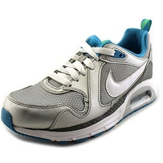 Nike Air Max Trax GS Youth Round Toe Synthetic Silver Sneakers