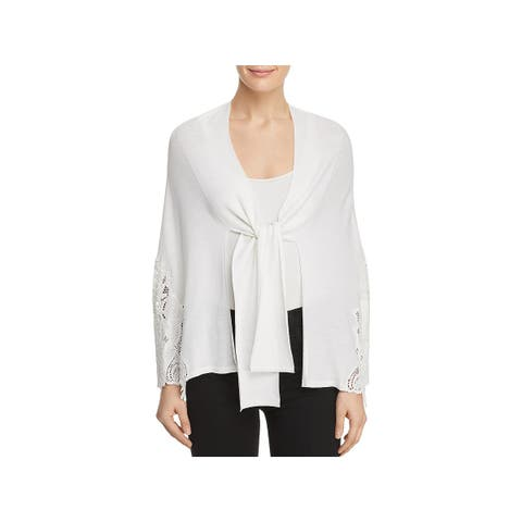 Kobi Halperin Womens Benita Cape Sweater Lace Tie-Front