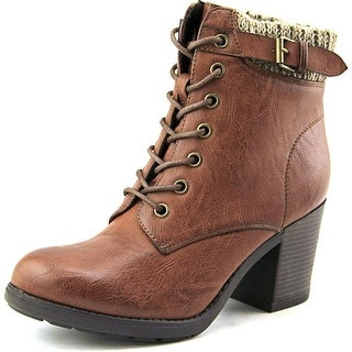 Mia George Women Round Toe Synthetic Brown Ankle Boot
