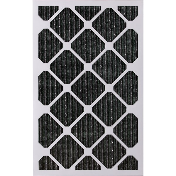 Nordic Pure 16x24x1 MERV 12 Pleated Plus Carbon AC Furnace Air Filters 16x24x1PM12C 6 Piece