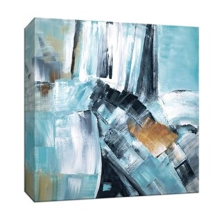 """PTM Images 9-147690  PTM Canvas Collection 12"""" x 12"""" - """"River Dance I"""" Giclee Abstract Art Print on Canvas"""