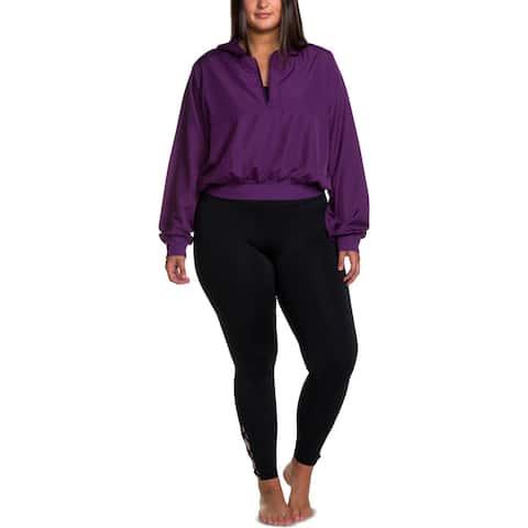 Soffe Womens Plus 1/4 Zip Jacket Fitness Running