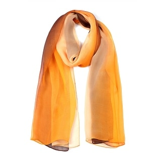 "Link to Long Chiffon Lightweight Gradient Color Scarf For Women Coffee/Orange - 63""x19.6"" Similar Items in Scarves & Wraps"