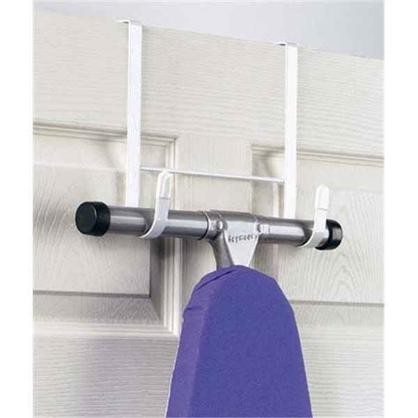Shop White Over The Door Ironing Board Holder Free Shipping On