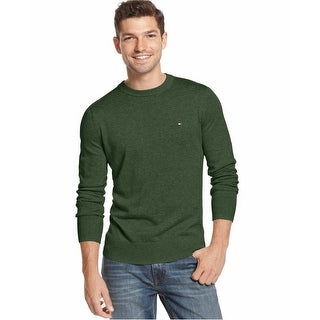 Tommy Hilfiger Lightweight Crewneck Sweater Black Forest Green XX-Large