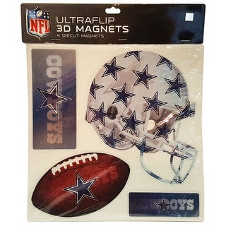 Dallas Cowboys Ultraflip 3D Magnets-4 piece