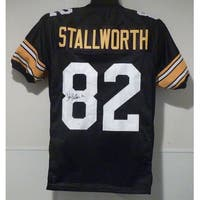 John Stallworth Autographed Pittsburgh Steelers black size XL jersey JSA