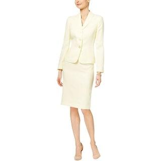 Le Suit Womens Skirt Suit Textured Lined