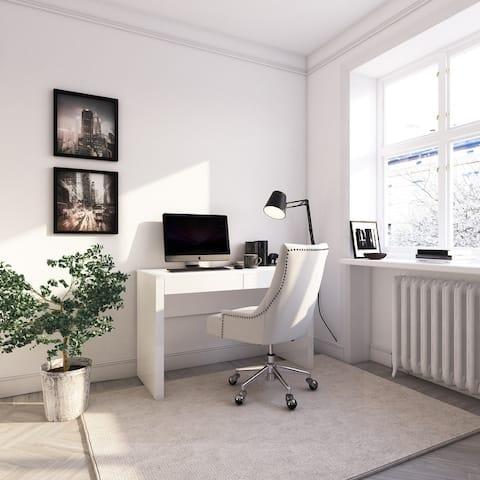 Modern 2 Drawers Rectangular Desk