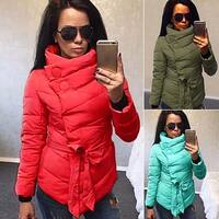 Women's Winter Irregular Long Sleeve Down Jacket Long Coat Warm Outerwear