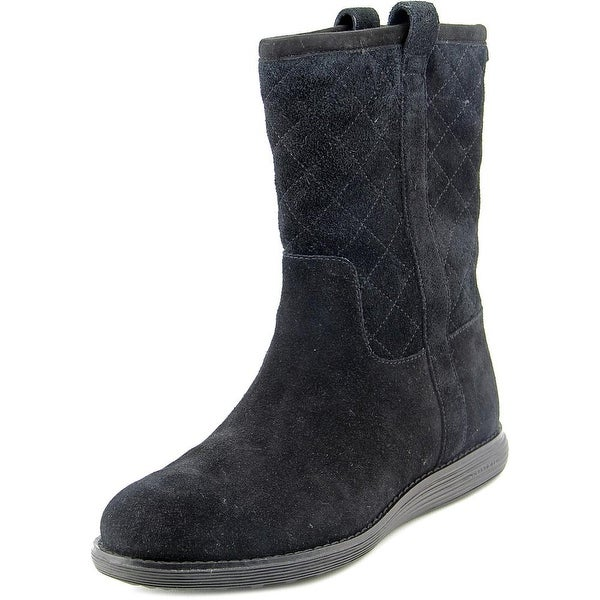 Cole Haan Roper Grand Boot WP Round Toe Suede Mid Calf Boot