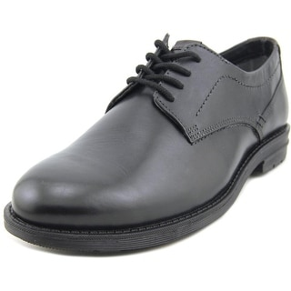 Nunn Bush Douglas Men Round Toe Leather Black Oxford