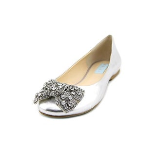 Betsey Johnson Ever Women  Round Toe Synthetic Silver Flats
