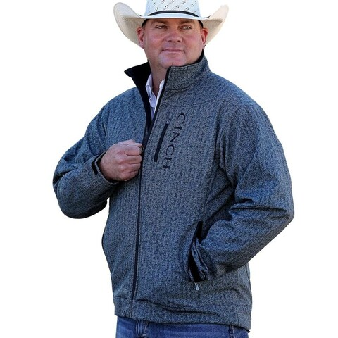 Cinch Western Jacket Men Bonded Contrast Zipper Multi Color